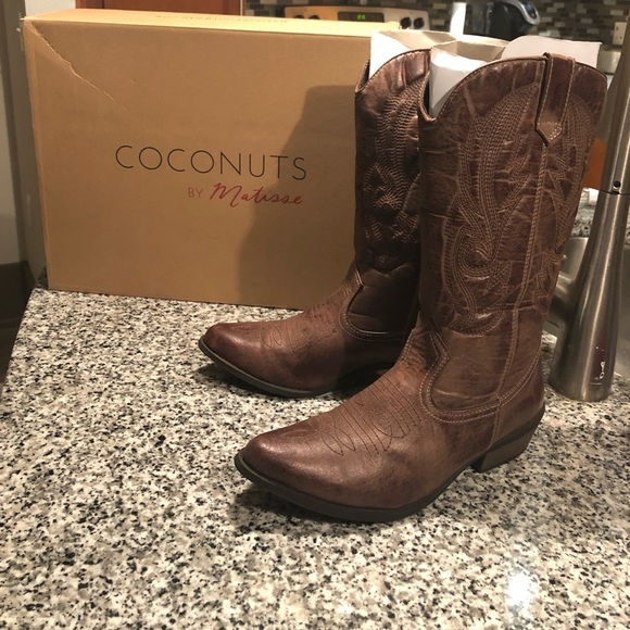 Matisse Shoes Brown Cowboy Boots Poshmark